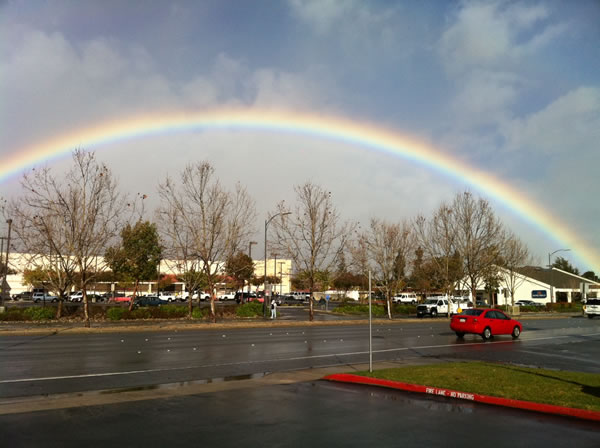 Rainbow in West San Jose, February 25, 2011  (Photo submitted via uReport)