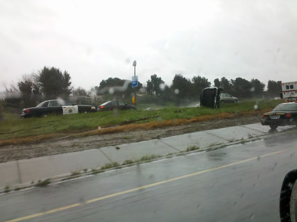 SUV rollover injury accident at Hwy 4 and 242 in Concord (Photo submitted by user Mitch via uReport)