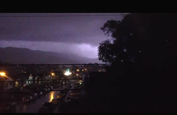 Here are some images of the lightning from the storms that passed through the Bay Area Thursday night. This photo was taken in Daly City.  (Photo submitted by a viewer via uReport.)