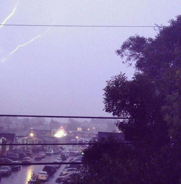 "<div class=""meta ""><span class=""caption-text "">Here are some images of the lightning from the storms that passed through the Bay Area Thursday night. This photo was taken in Daly City.  (Photo submitted by a viewer via uReport.)</span></div>"