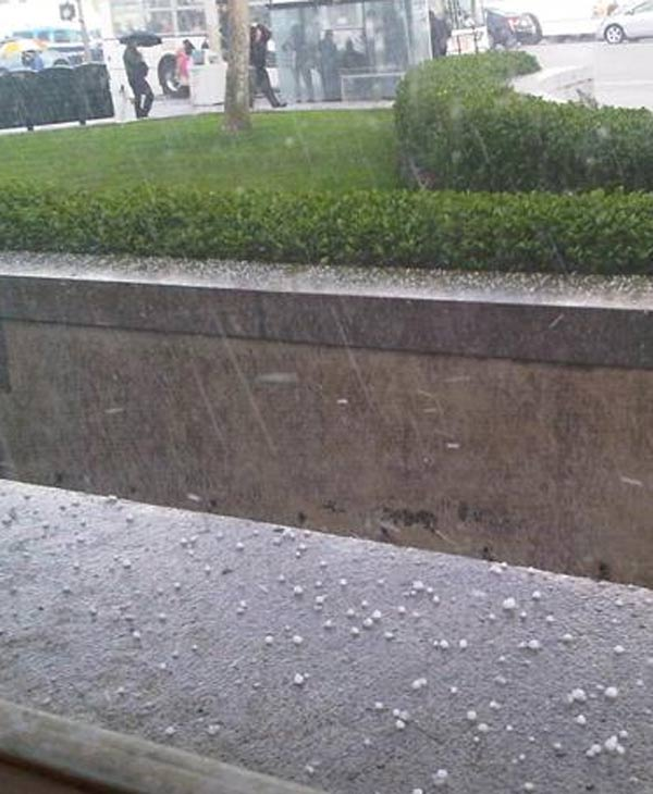 Hail spotted in San Francisco (Photo submitted by anonymous user via uReport.abc7news.com.