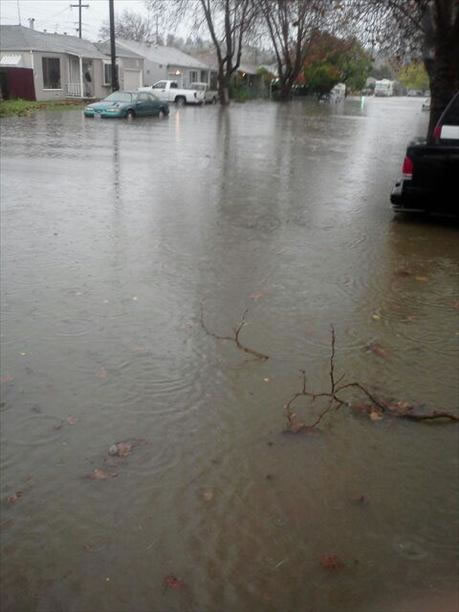 Flooding in Vallejo (Photo submitted via uReport)