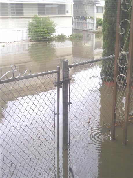 Flooding at Vallejo's Mobile Estate (Photo submitted via uReport)