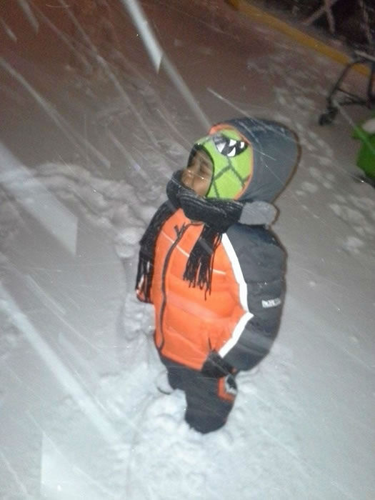 Zion enjoying the snow. (Photo submitted by Crystal G. via Facebook)
