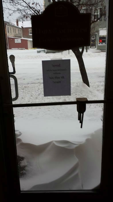 Richard took this pic from inside the Hudson Valley Dessert Co. (Photo submitted by Rita F. via Facebook)