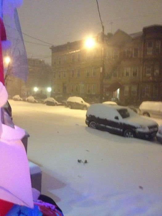 Jersey city front of my house. (Photo submitted by Edwin G. via Facebook)