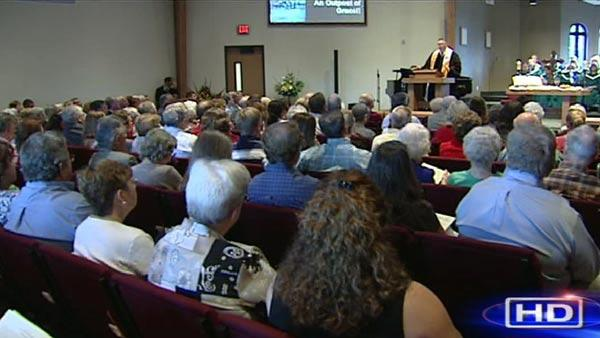 Parishioners flock to new church