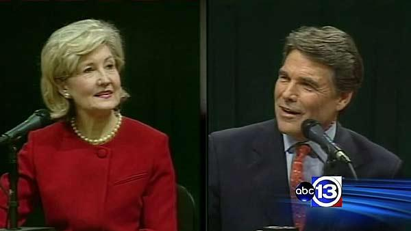 Perry touts record; Hutchinson attacks it