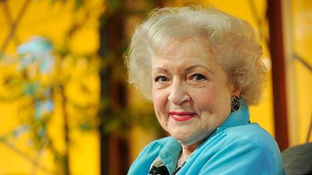 Actress Betty White poses for a portrait following her appearance on the television talk show In the House, in Burbank, California