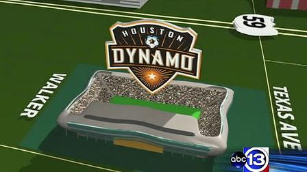 Harris County commissioners voted unanimously to approve plans for a new Dynamo stadium east of downtown