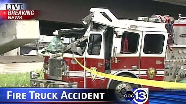 Houston fire truck involved in accident