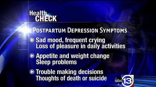 What are signs of postpartum depression?