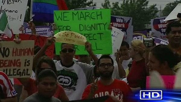 Local groups rally over immigration rights