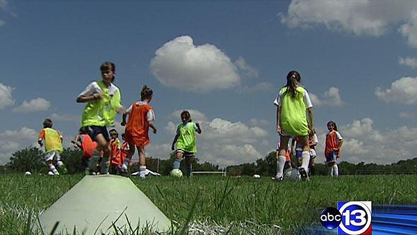 Rice soccer camp takes to the pitch