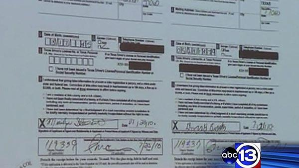 Allegations of fraudulent voter registration applications