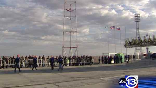 Astronaut's loved ones travel to witness Russian launch
