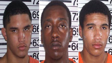 Christopher Fuller, 18, Jacolby Crichlow, 18, and Jonathan Gore, 18, have each been charged with four counts of aggravated robbery