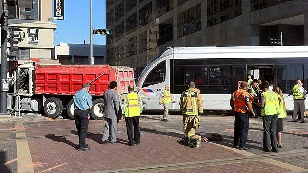 METRO light rail involved in wreck