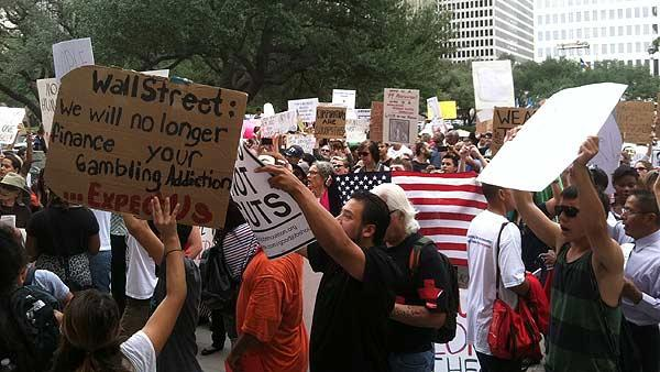 Occupy Wall Street spin-off comes to Houston