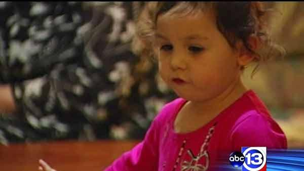 Two-year-old girl saves mom's life