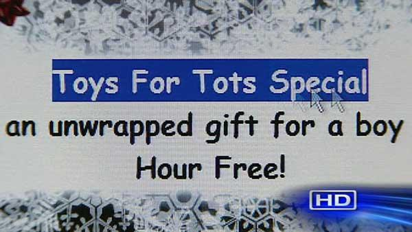 Toys for Tots used in adult escort site