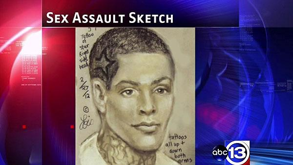 Sketch released in aggravated sex assault of woman