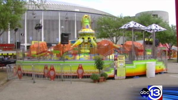 Girl recovering after falling from carnival ride