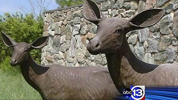Iconic deer sculptures stolen