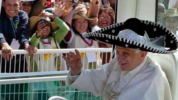 Pope Benedict XVI wraps up his time in Mexico