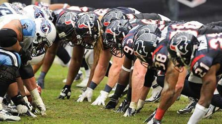 and Texans line up during the fourth quarter of an NFL football game    Nfl Football Game Line Up