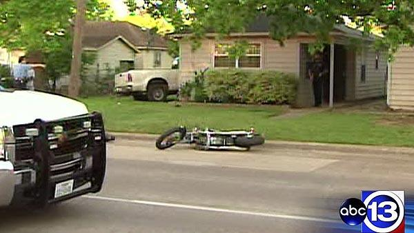 Police: Motorcyclist killed, pickup truck crashes into home