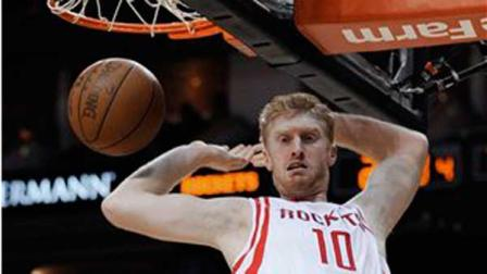 Houston Rockets Chase Budinger follows through on a dunk during the second half of an NBA basketball game against the New Orleans Hornets on Thursday, April 26, 2012, in Houston. The Rockets won 84-77. (AP Photo/Pat Sullivan)