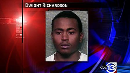 Houston police arrested and charged Dwight Richardson with aggravated robbery with a deadly weapon.