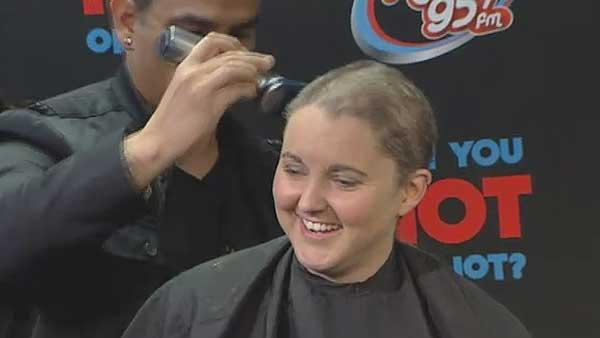 Houston radio DJ gets head shaved