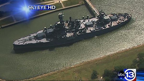 Crews find leak on Battleship Texas
