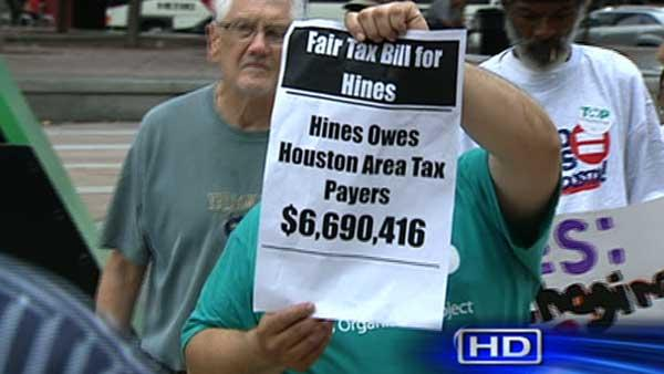 Protestors rally against high rises' property tax bills