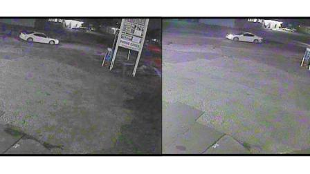 Police released these surveillance pictures of the suspects vehicle.