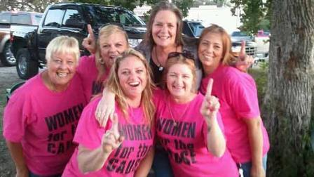 A few members of the Women for the Cause nonprofit group after an event