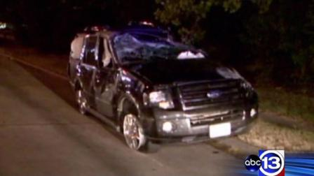 A man follows the thieves who took his SUV until a deputy joined the chase.