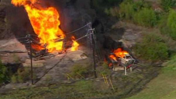Gas line explosion near Dallas