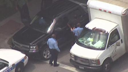SkyEye 13 HD Tuesday afternoon caught the end of a chase involving suspected police impersonators