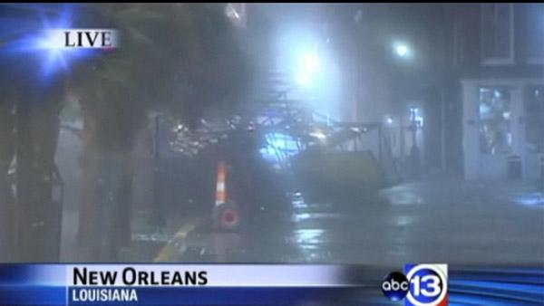Isaac already causing damage in New Orleans