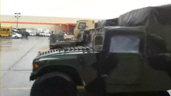 National Guard rescue ops staging area