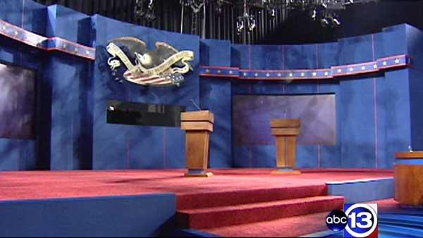 Stage set for first presidential debate
