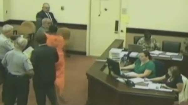 Dramatic courtroom attack captured on camera