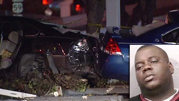Driver accused of being high on PCP slams into car