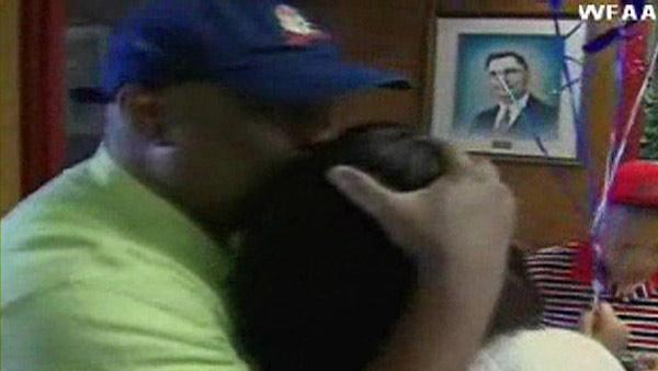 Daughter surprises dad as he casts first vote