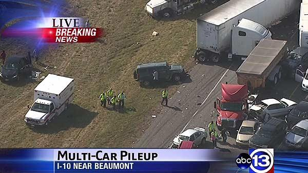 Massive pileup accident shuts down I-10