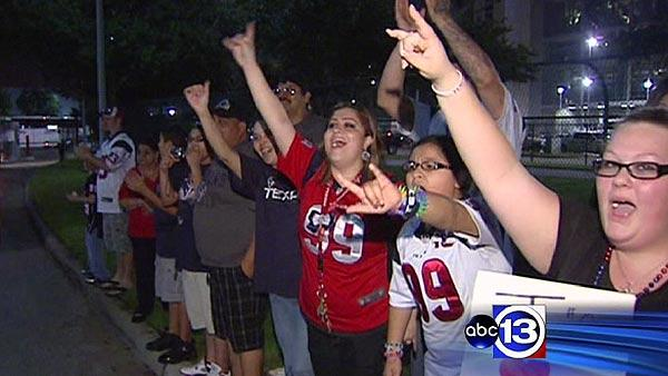 Texans fans celebrating best season so far
