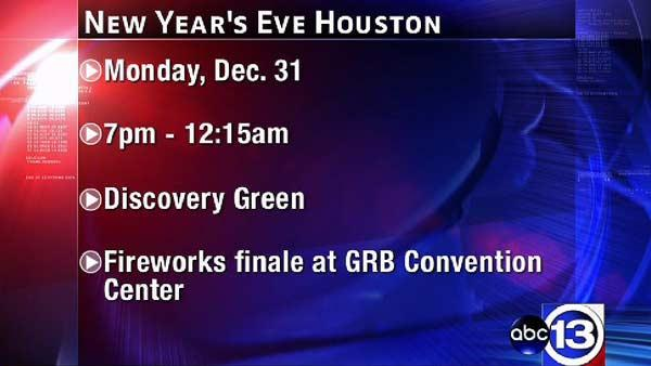 Houston to ring in new year at Discovery Green